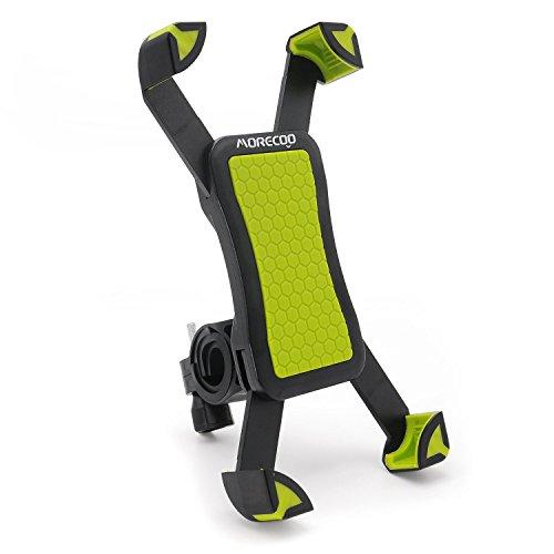MORECOO 自転車ホルダー スマートフォンマウントホルダー スマホ固定用ホルダー 旅行用バイクスタンド 360度回転携帯ホルダー 調整可能 iPhone/Andriodなど多機種対応(グリーン)