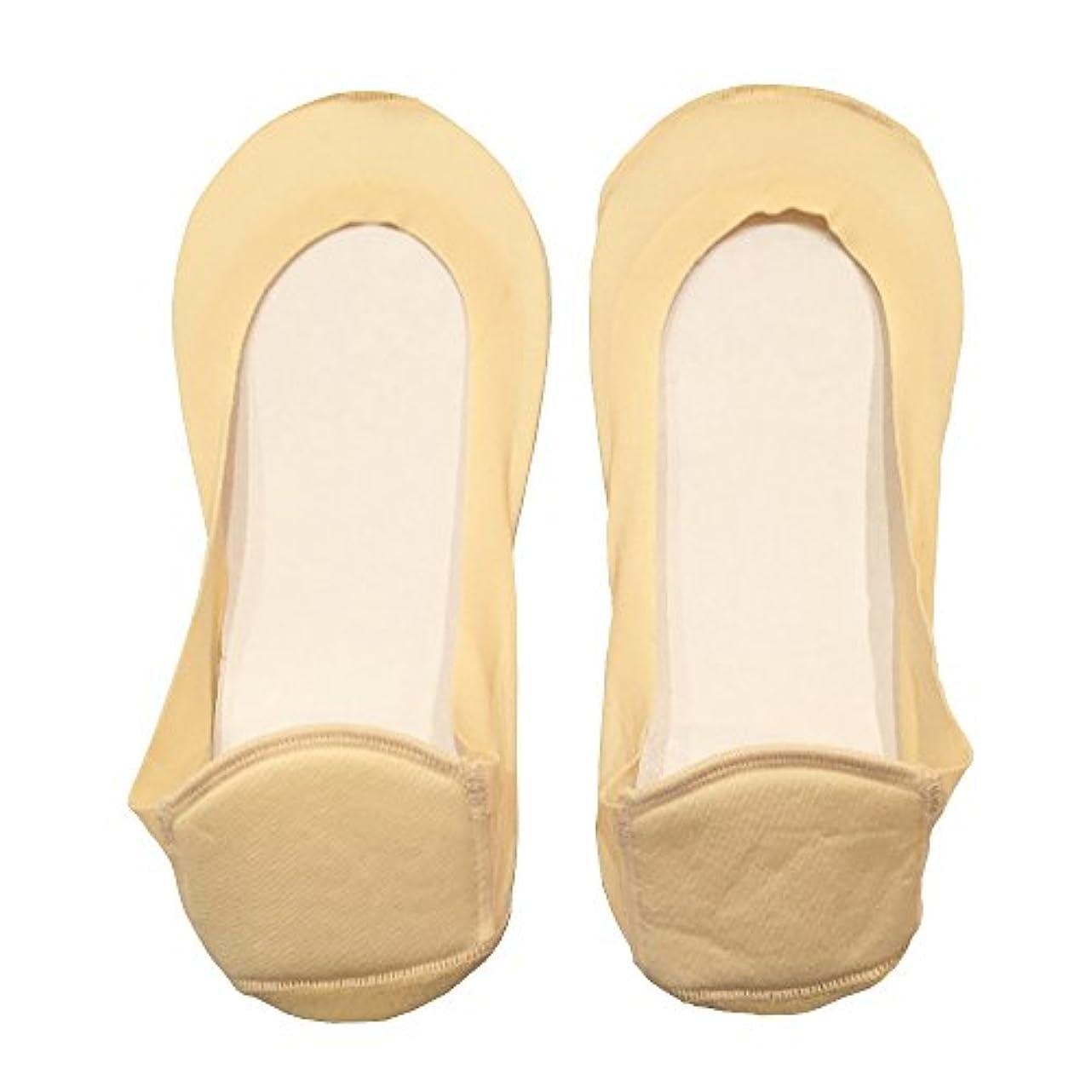変形セメント病者DrScholl(ドクターショール)靴ずれ防止フットカバー かかとクッション付き 8804DR-80 ベージュ
