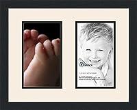 ArtToFrames アルファベット写真画像フレーム  4x6インチ開口部2つとサテンブラックフレーム 6x10 Double-Multimat-46-824/89-FRBW26079