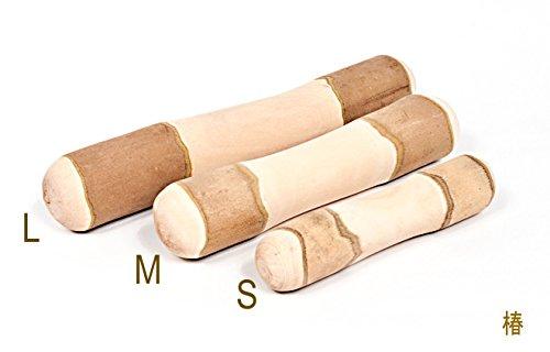 国産天然木の噛むおもちゃ 自然木タイプ 椿 (M)