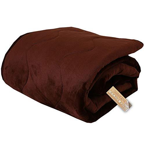 昭和西川 敷きパッド ブラウン 100×205cm 冬の必需品 ふっくら暖かフランネル敷きパッド なめらか肌触り