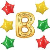アドワン 数字 風船 バルーン 飾り付け 誕生日 ゴールド 大きい 数字1~9 文字 記念日 お祝い (B)