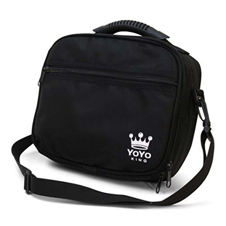 Yoyo King Black Yoyo Bag Heavy Duty Soft Case for Storage of 8 Yoyos and Accessories by Yoyo King [並行輸入品]