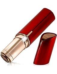 顔の脱毛 - 女性の無痛脱毛シェーバー、顔、脚、ビキニ、腕と脇の下のためのLEDライト付き電気かみそり,Red