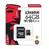 キングストン microSDカード Class 10 64GB UHS-I 【Nintendo Switch 動作確認済】 アダプタ付 Canvas Select SDCS/64GB 画像