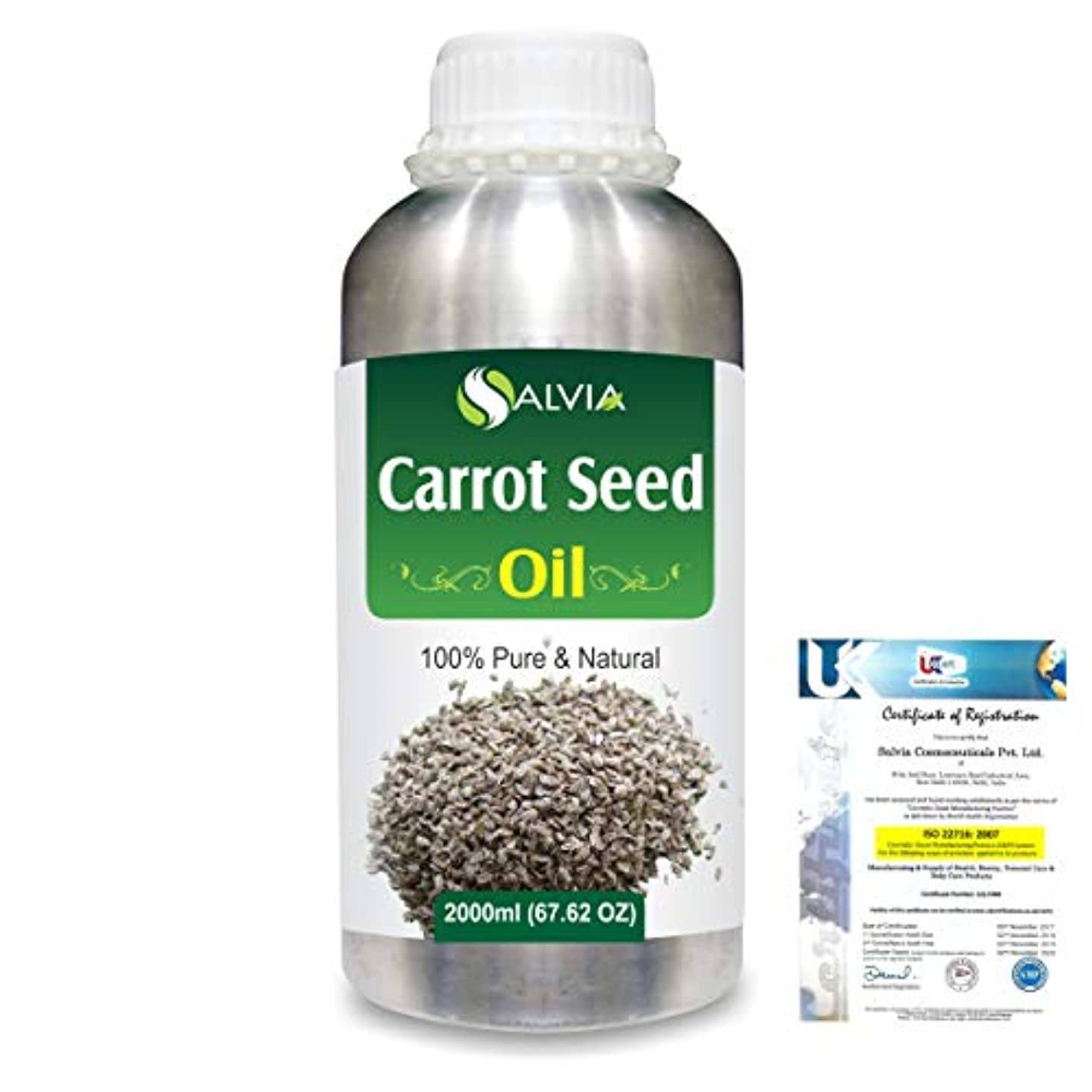 実用的ドループ所持Carrot Seed (daucus carota) 100% Natural Pure Essential Oil 2000ml/67 fl.oz.