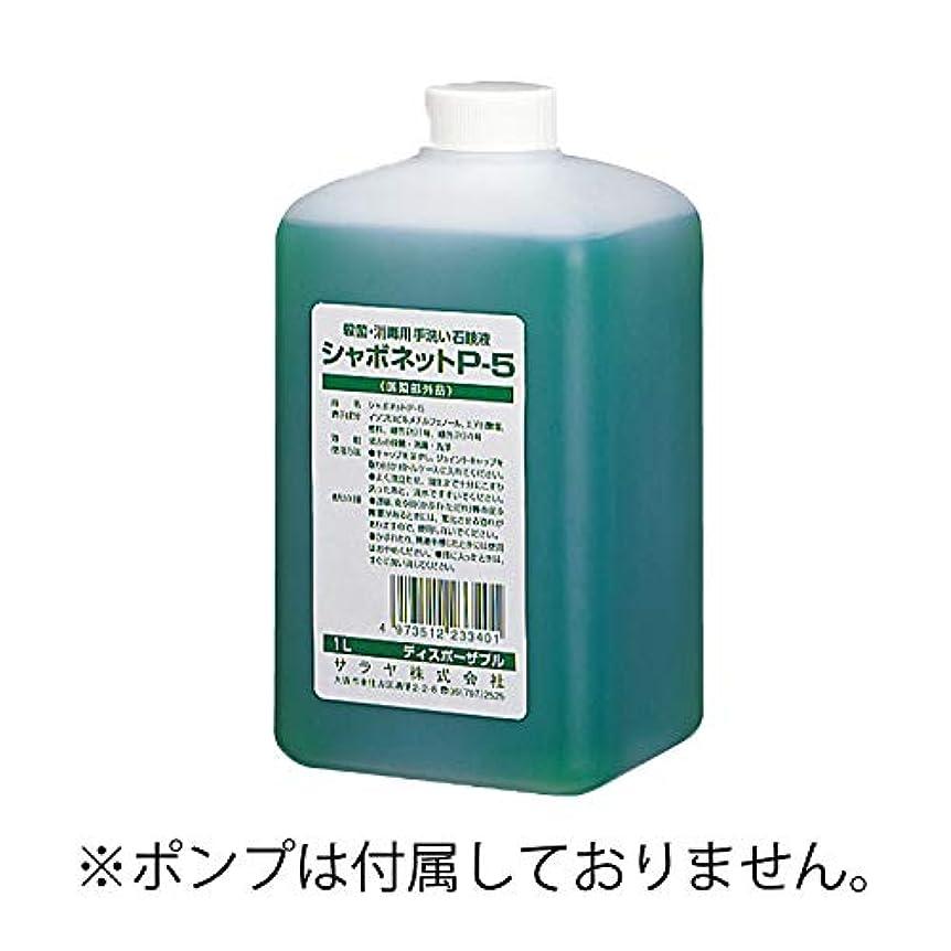 あざステンレス検出するサラヤ 手洗い用石けん液 P-5 1L機器用