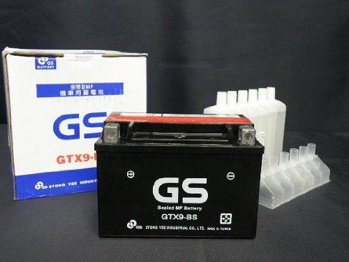 【初期充電済み・保証付き】台湾GSバッテリー GTX9-BS   YTX9-BS互換 KLX650 ZRX バンディット CBR250R CBR400R