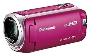 Panasonic HDビデオカメラ W580M 32GB ワイプ撮り 高倍率90倍ズーム ピンク HC-W580M-P