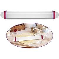 Kingsie 麺棒 厚さ調節可能 ケーキ お菓子作り 実用的 めん棒 均等にのばせる (プラスチック製)