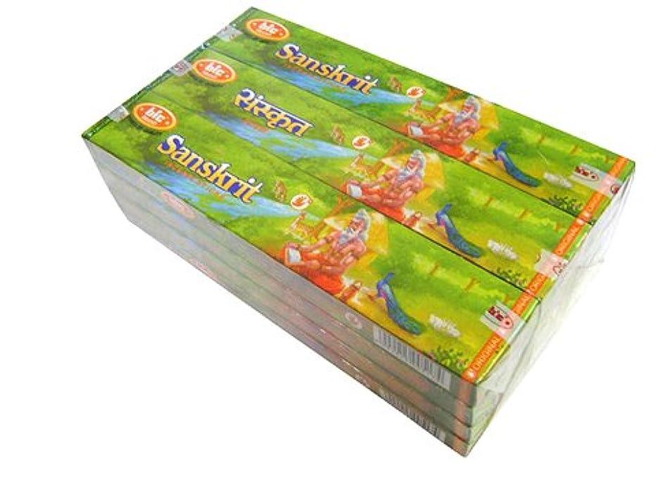 略奪スロー浸漬BIC(ビック) サンスクリット香(レギュラーボックス) スティック SANSKRIT REG BOX 12箱セット
