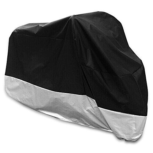 HBLIFE バイクカバー 溶けない バイク車体カバー 高品質420D オックス 厚手 防水 防雪 耐熱 UVカット 盗難防止 風飛び防止 耐久性アップ バイクを守る 車体カバー ハーレー 4Lサイズ 収納袋付き