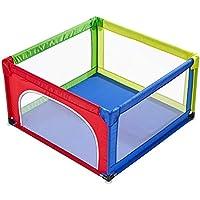 幼児のためのドアの安全な遊び場で庭を再生するアンチロールオーバー4パネル赤ちゃんのための子供の遊び場バスケット (サイズ さいず : カラフル)