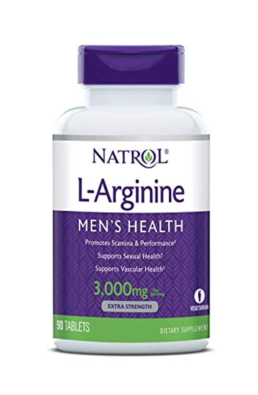 ベーシック晩餐兵器庫Natrol - L-アルギニン 3000 mg 90錠