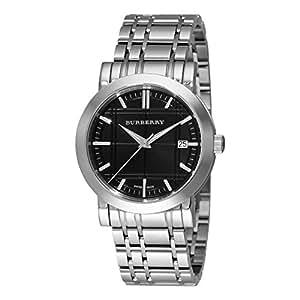 腕時計 バーバリー Burberry Men's BU1364 Heritage Black Dial Bracelet Watch【並行輸入品】