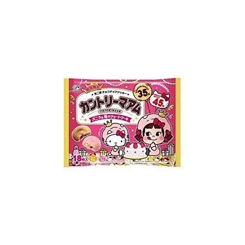 18枚カントリーマアム×ハローキティ(バニラ&苺のショートケーキ)