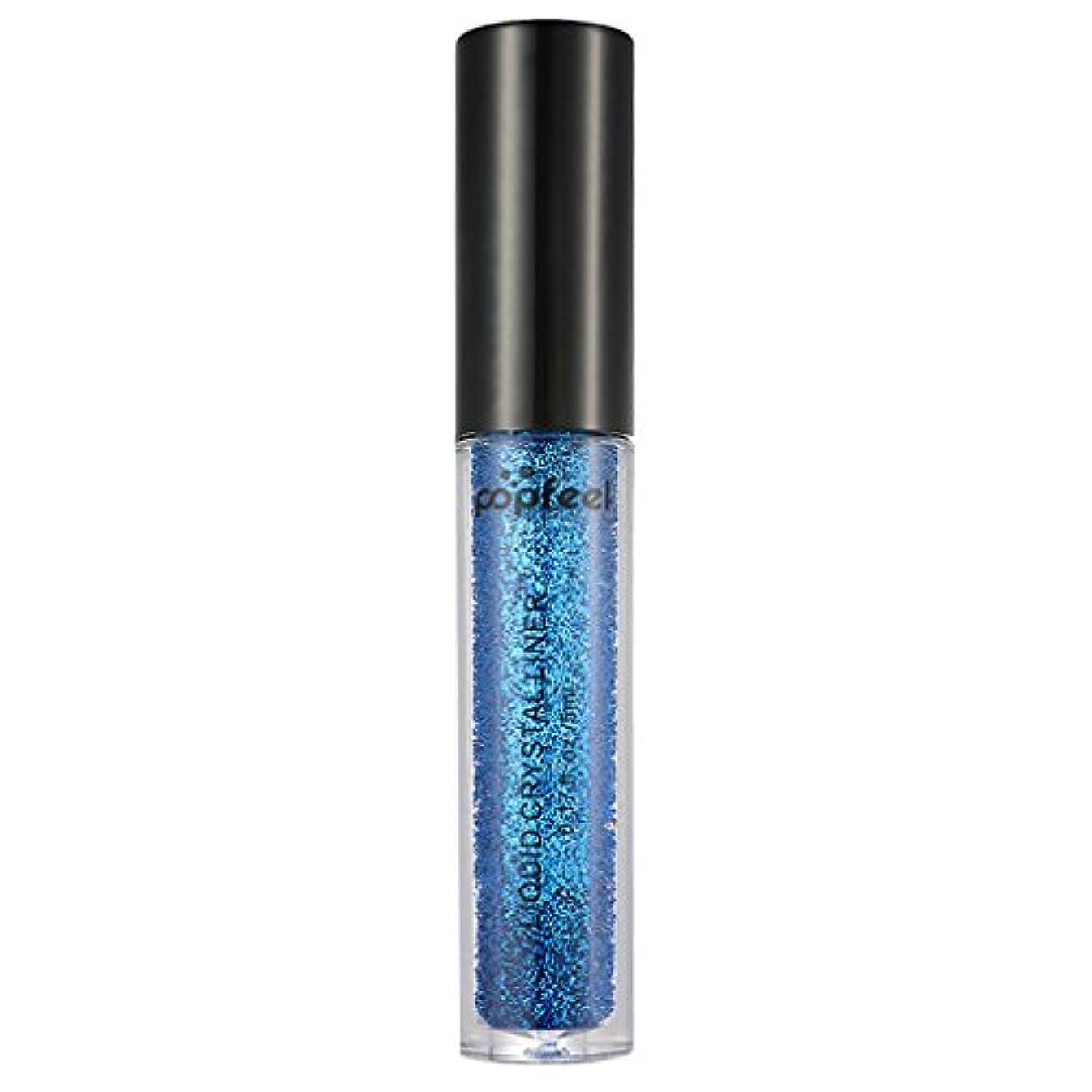 騒ぎ石の自己尊重アイシャドー フェイス ボディ リキッド顔料 防水 グリッター 全12色 - 青