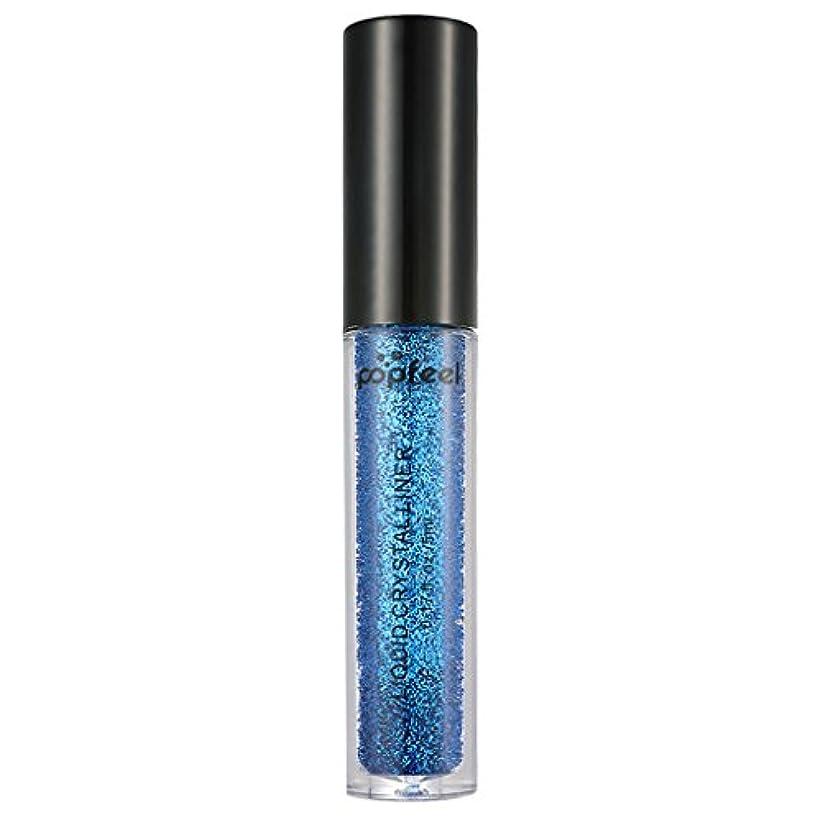 排他的にぎやかエロチックアイシャドー フェイス ボディ リキッド顔料 防水 グリッター 全12色 - 青