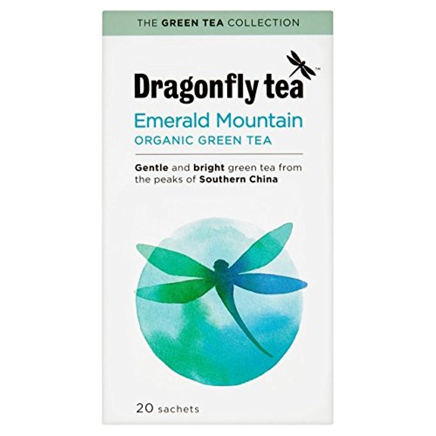 子犬ラウンジジェム有機カップ?イン?スリーブ緑茶20は、パックごとにトンボ (x 4) - Dragonfly Organic Cup-in-the-Sleeve Green Tea 20 per pack (Pack of 4) [並行輸入品]