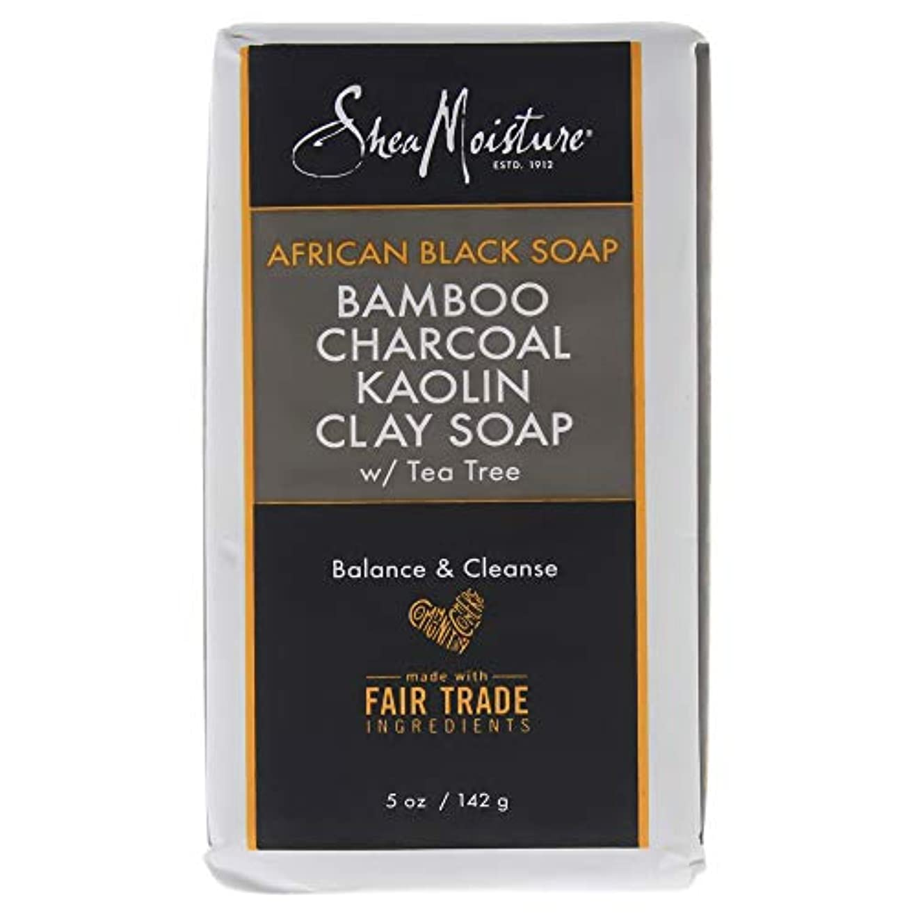 チャネル変動する残高African Black Soap Bamboo Charcoal Kaolin Clay Soap