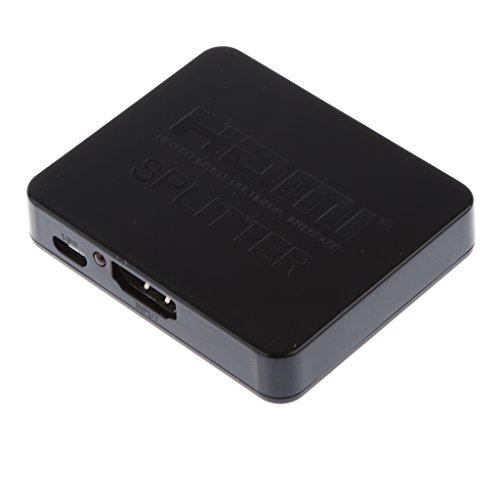 [해외]Lovoski 1080P 3D 미니 2 포트 HDMI 스플리터 스위처 1x2 1 In 2 HDTV PS3 xBox에 대응 블랙/Lovoski 1080P 3D mini 2 port HDMI splitter switcher 1 x 2 1 In 2 HDTV PS 3 xBox compatible Black