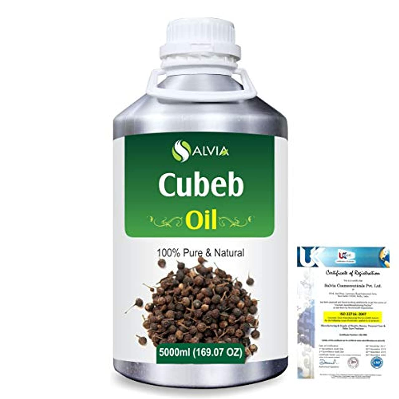 遠近法手当オーバーヘッドCubeb (Piper Cubeba) 100% Pure Natural Essential Oil 5000ml/169 fl.oz.