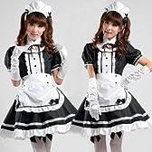 コスプレ 【メイドはこれで決まり!!】可愛い★ メイド服 豪華衣装 フルセット(7点) Sサイズ
