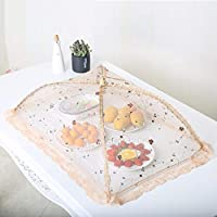 ZPTAT フードカバー 洗える 家庭用折りたたみテーブルカバーフードフードフードフードハエ防止網紗菜傘,B,70 x 45 cm。