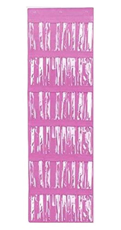 ドアの上の24のポケット靴のオーガナイザー吊り下げ収納袋、ピンク