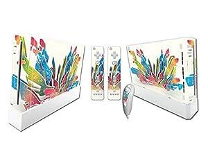 Nintendo Wii Skin Design Foils Faceplate Set - Colors Design