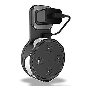iniko amazon Echo Dot 専用 壁掛け ホルダー カバー ケース Alexa アレクサ エコードット (マッドブラック)
