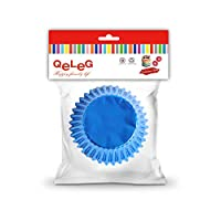 (Blue) - Foil Metallic Cupcake Case Liners Baking Cups for Cupcakes,Muffins, 50-Count, Standard (BLUE)
