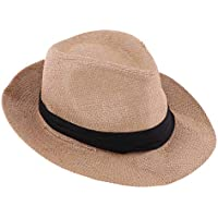 Blesiya Summer Floppy Straw Hat Panama Hat Sun Foldable Cap Beach Hat - 57-58cm