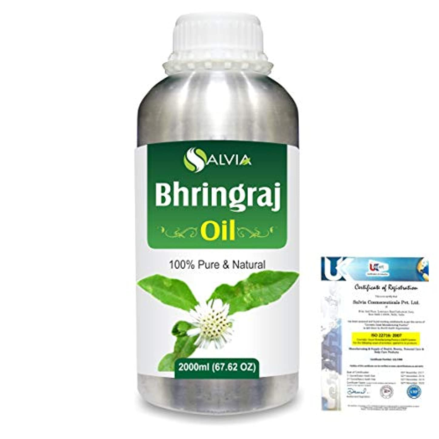 社交的軍隊卵Bhringraj 100% Natural Pure Oil 2000ml/67 fl.oz.