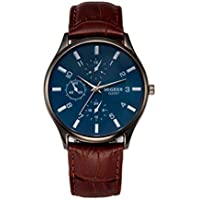 Classic New Men Watch Wrist Watch Leather Strap Quartz Casual Watches