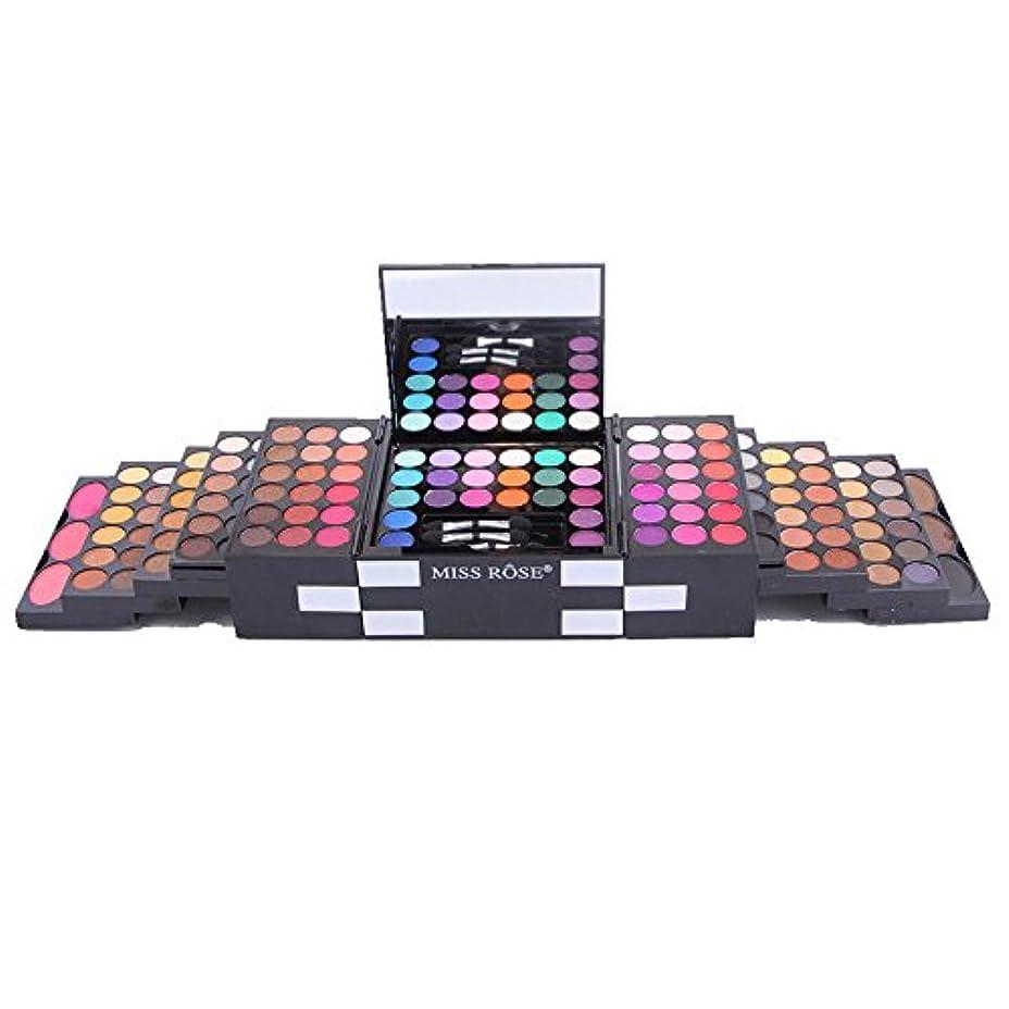 有効化序文カプラーAkane アイシャドウパレット MISS ROSE 人気 ファッション 魅力的 豪華 欧米風 3色チーク+3色パウダーアイブロウ おしゃれ チャーム 長持ち 持ち便利 Eye Shadow (144色) 7001-045M