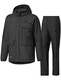 アディダス(adidas) M adidas 24/7 中綿ウインドブレーカージャケット&パンツ 上下セット(ブラック/ブラック) DUQ95-CD2897-DUQ94-CD9659 M