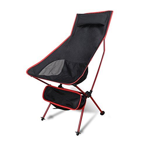 【アウトドアチェア ・キャンプ用品】 Linkax ロングバックタイプ 耐荷重140kg ラウンジチェア 折りたたみ 軽量 専用ケース付き ( 折り畳み椅子 )