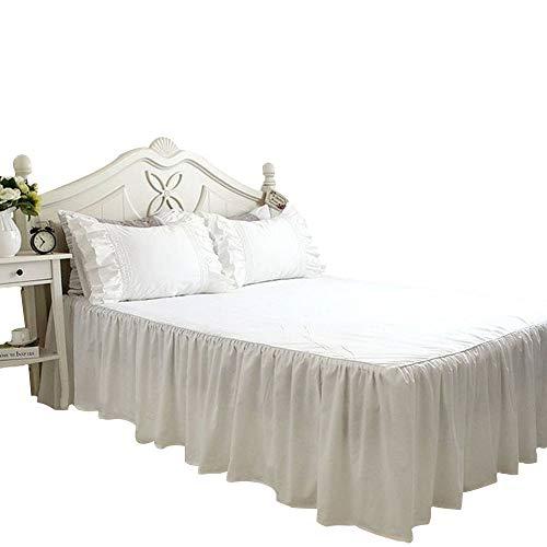 アンティーク風 ホワイト ベッドスカート シングル ベッド スカート 無地 綿100 高品質