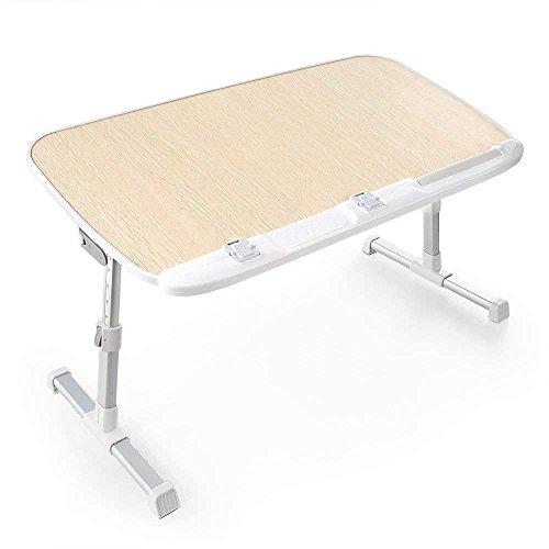 HUANUO 折りたたみ式 ノートパソコンスタンド ベッドテーブル ローデスク 机上台 高さ・角度調節可能 多機能 ベッド カーペット ソファ オフィス 食事 利用可