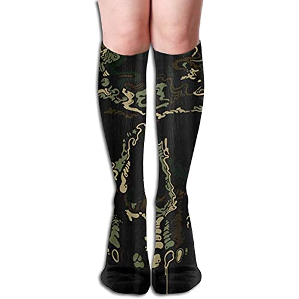 絶滅させるより良い盆地Camo Army Skull Pirate Compression Socks Women&Men 15-20 mmHg Compression Stockings Best for Running、Medical、Travel