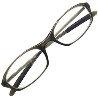 ブルーライトカット 老眼鏡 PC リーディンググラス パソコン TR90 軽量 超弾性素材 (+1.00 グレー)