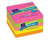 Avery付箋、3x 3インチ、fan-fold、明るい色、500シート(22583)