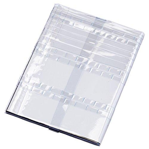 B5~A4~B4、その他変形の大判書籍に対応!フリーサイズ雑誌&ノート&絵本カバー[オルフラット]クリア(透明)