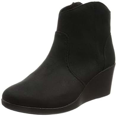 [クロックス] レイ シンセティック スエード ウェッジ ブーティ ウィメン ブーツ 203864 Black W6(22.0cm)