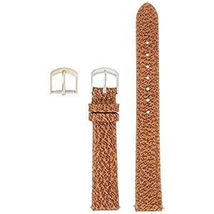 [クレファー]CREPHA 時計ベルト 14mm 革 ピッグ 抗菌 防臭仕上 尾錠 工具付き ブラウン 18-14