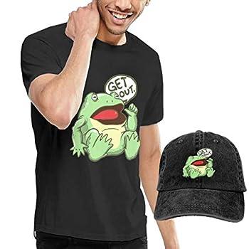 VERY MUCH カエル 出で行け ハイクオリティー Tシャツ 半袖 キャップ 帽子 デニム ベースボールキャップ メンズ ブラック 綿 ファッション おしゃれ 夏 無地