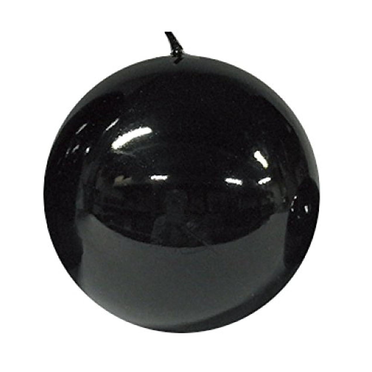 通行人細心の見積りボールキャンドル/メタルブラック10cm