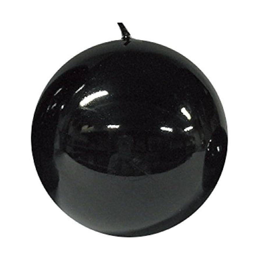 続けるヒゲクジラまっすぐボールキャンドル/メタルブラック10cm