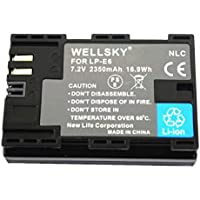 [WELLSKY] CANON キヤノン LP-E6 / LP-E6N 互換バッテリー [ 純正品と同じよう使用可能 純正充電器で充電可能 残量表示可能 ] イオス EOS 70D / EOS 7D MarkII / EOS 6D / EOS 6D Mark II / EOS 5D MarkII / EOS 60D / EOS 7D / EOS 5D MarkIII / EOS 5D Mark IV / EOS 60Da / EOS 70D/ EOS 5Ds / EOS 5Ds R / EOS 80D / EOS R / BG-E6 / BG-E7 / BG-E9 / BG-E11 / BG-E13 / BG-E14 / BG-E16 / BG-E18 / BG-E20 / BG-E21 / BG-E22 / BG-E20